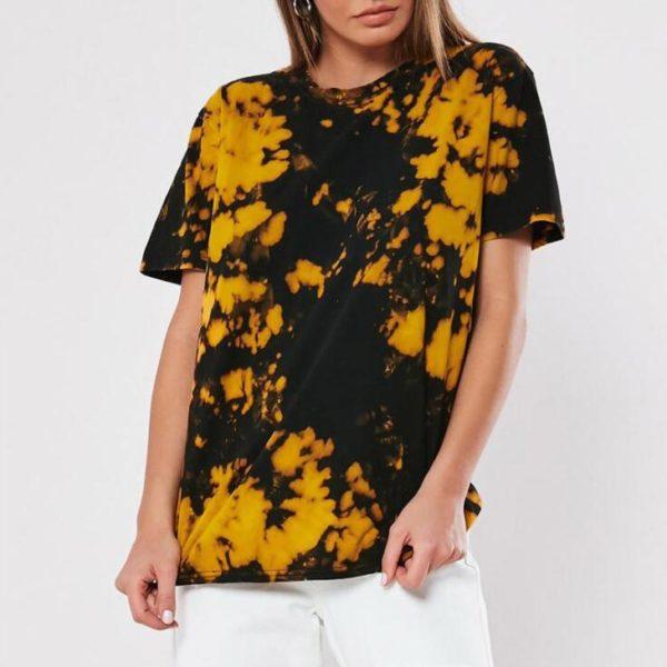 Dámské ležérní tričko s potiskem ve stylu batiky