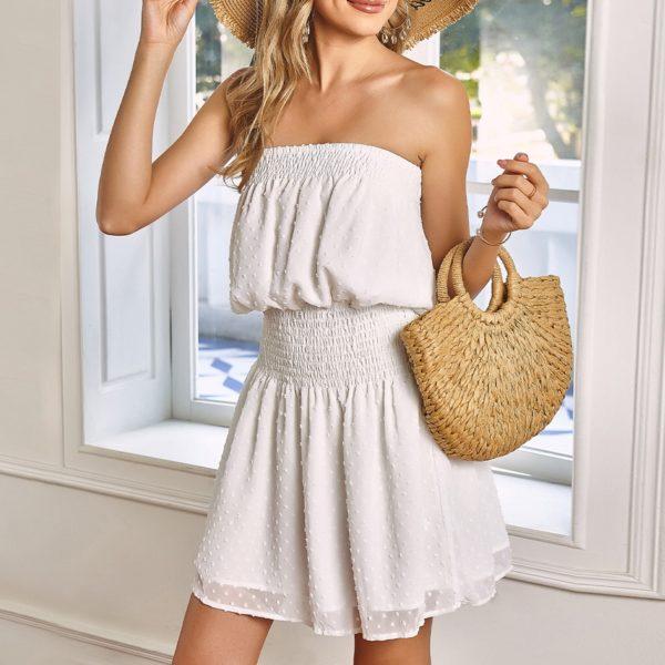 Dámské pohodlné letní šaty bez ramínek Rita