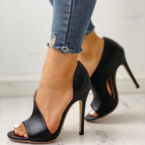 Dámské letní boty na vysokém podpatku Sarah