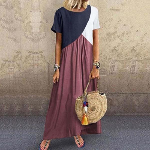 Dámské barevné Maxi šaty v Plus Size velikostech