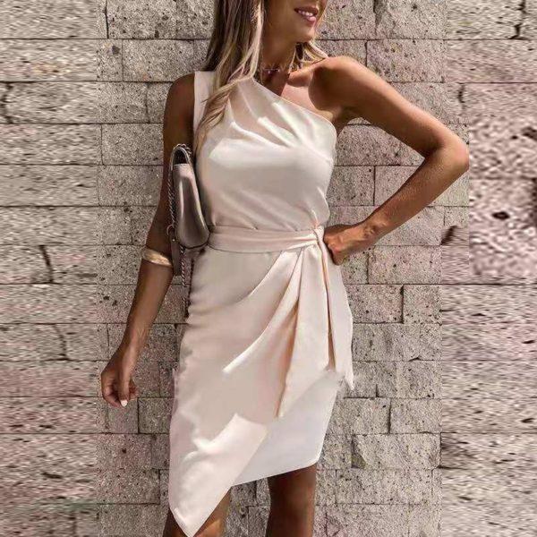 Dámské letní šaty s lomeným ramenem Sarah