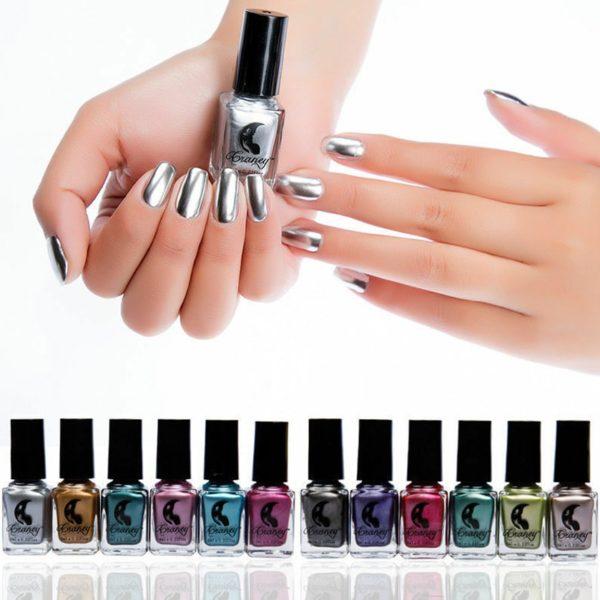 Krásné laky na nehty se zrcadlovým efektem - více barev