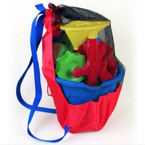 Dětský přenosný síťovaný plážový batoh na hračky