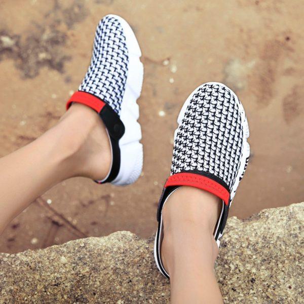 Pánské letní uzaveřené pantofle