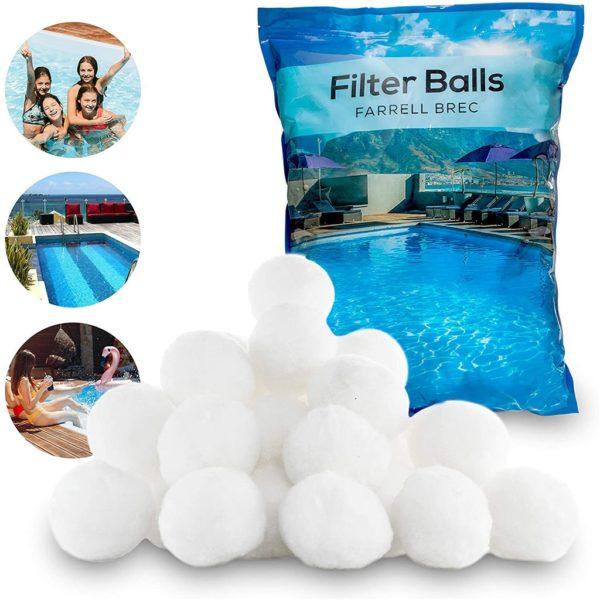 Bílý křemičitý pískový filtr do bazénu