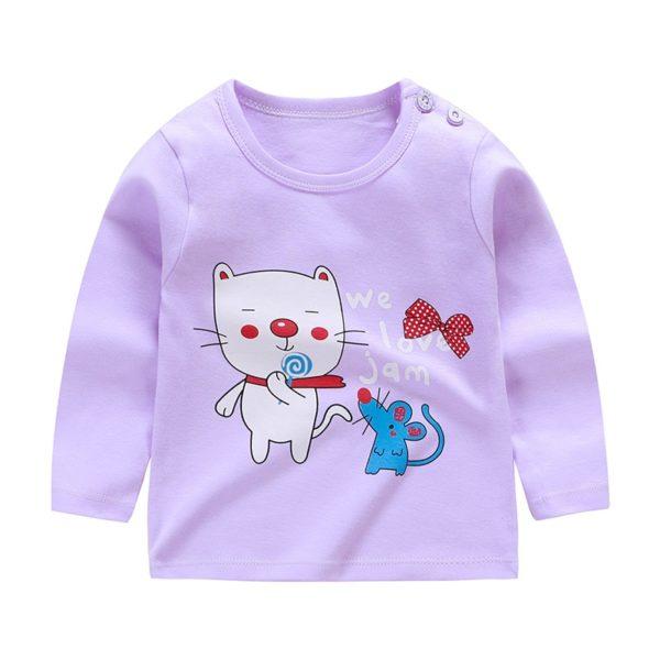 Dětské triko s dlouhým rukávem a krásnými potisky