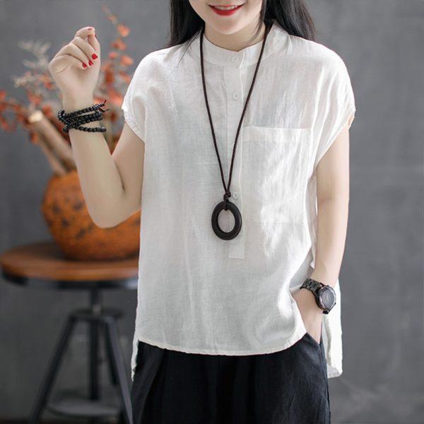 Dámská letní volná košile s krátkým rukávem Jane