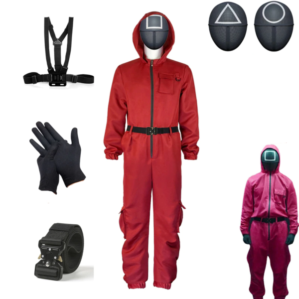 Set červená uniforma - Squidgame